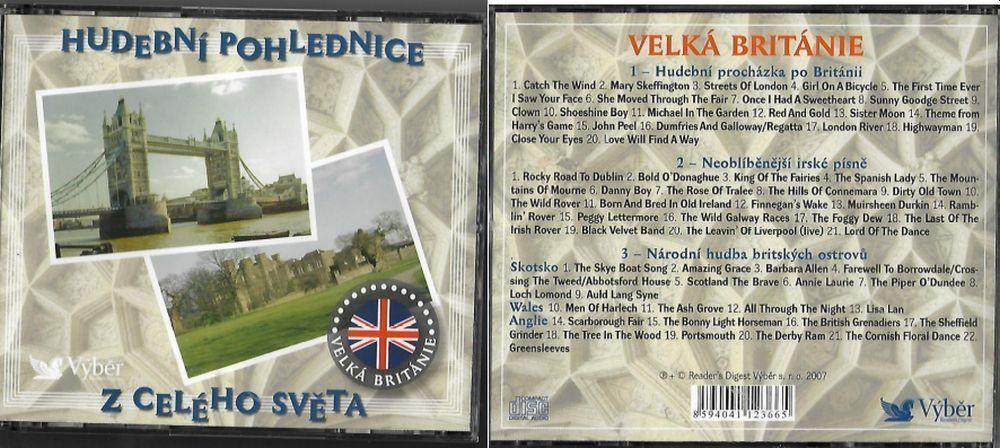 3CD Hudební pohlednice z celého světa Velká Britanie Nové